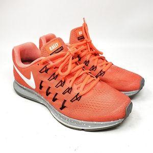 NIKE Rally Zoom Pegasus 33 Orange Athletic Sneaker